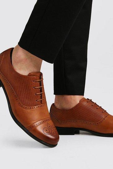 Tan Texture Detail Toe Cap Formals