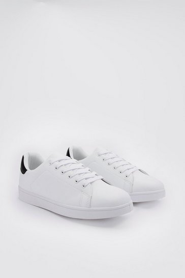 White Lace Up Classic Pump