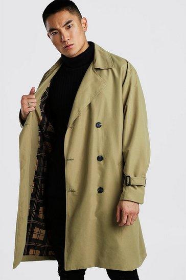 Khaki Oversized Lined Trench Coat