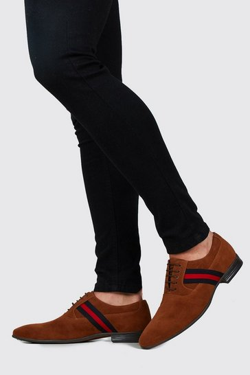 Tan Side Tape Immi Suede Formals