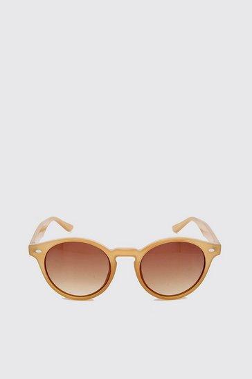 Mocha Acetate Vintage Look Sunglasses