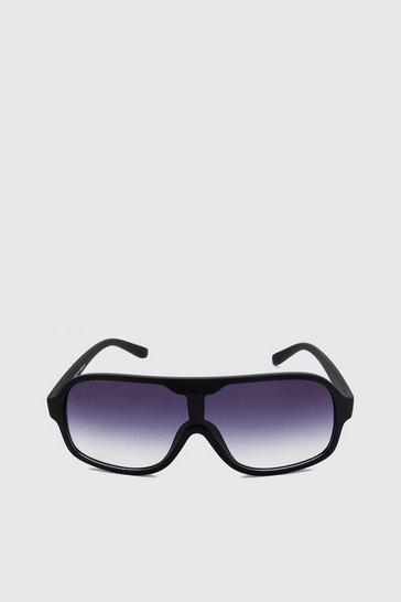 Black Tinted Lens Rectangular Sunglasses