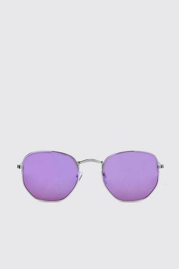 Lilac Colour Pop Round Sunglasses