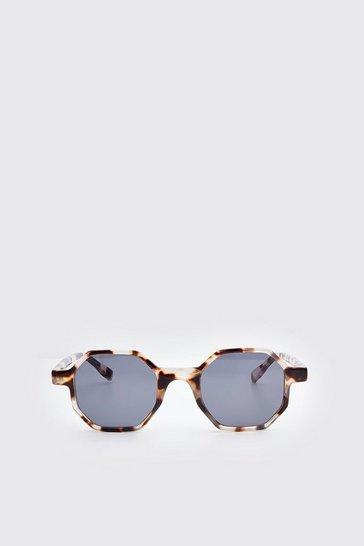 Brown Acetate Octagonal Sunglasses