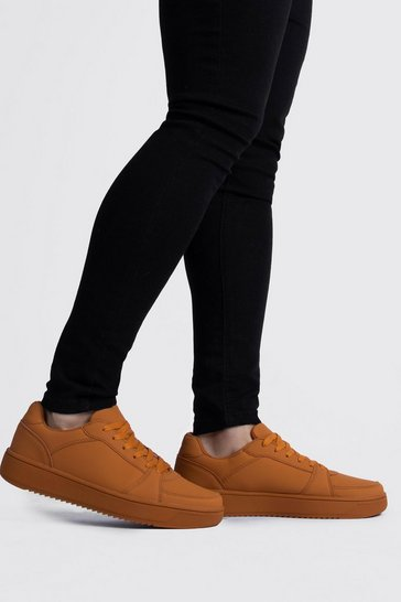 Camel Lace Up Trainer