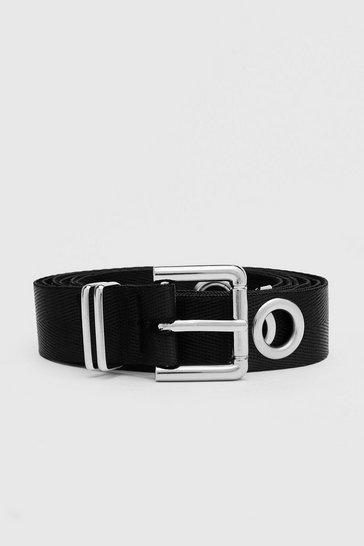 Black Eyelet Tape Belt