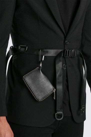 Black Wallet Clip Utility Belt
