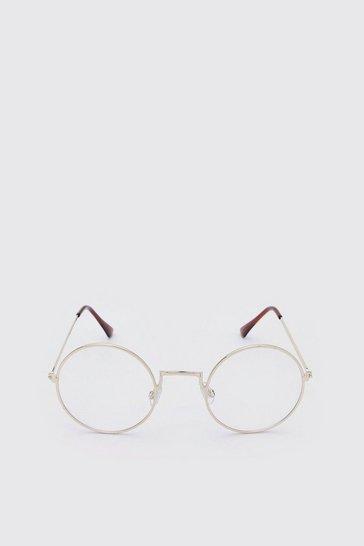 Gold Round Coloured Lens Sunglasses