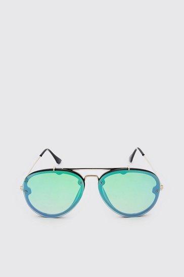 Green Coloured Mirror Aviator