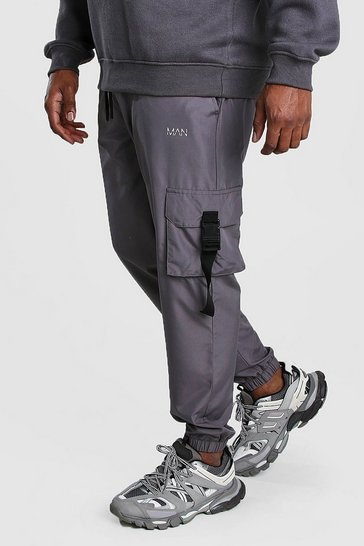 Charcoal Big And Tall MAN Dash Buckle Joggers