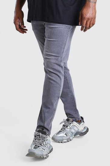 Grey Big & Tall Skinny Fit Jeans