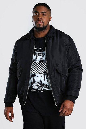 Black Big And Tall 2 Pocket Coach Jacket