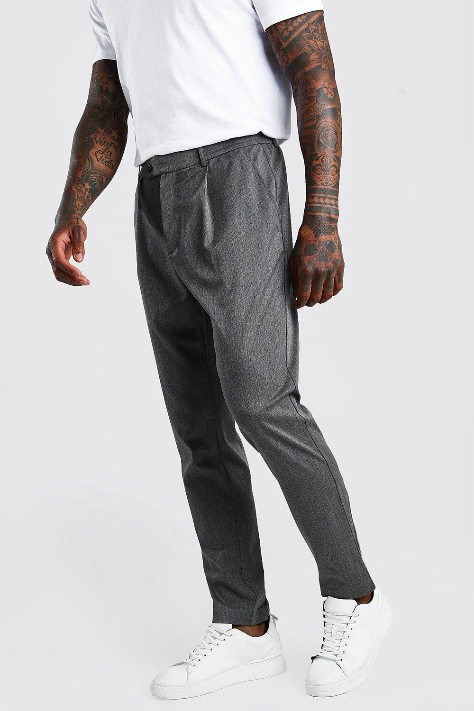 Повседневные брюки скинни со складками фото
