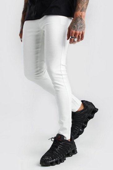 White Super Skinny Denim Jeans