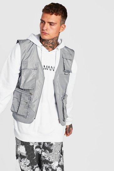 Grey Nylon Utility Vest