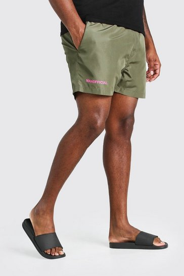 Khaki Big And Tall MAN Official Swim Short