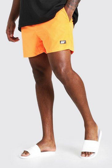 Neon-orange Big And Tall MAN Official Swim Short