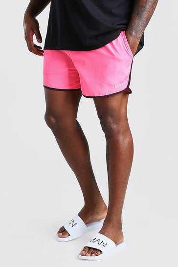 Pink Big And Tall MAN Dash Runner Swim Short