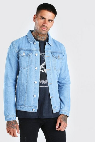 Light blue Regular Denim Western Jacket