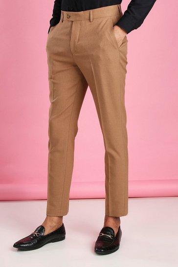 Camel Skinny Fit Suit Trouser