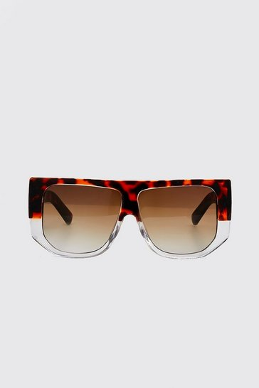 Brown Two Tone Oversized Sunglasses