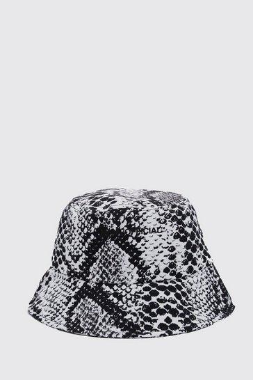 Black MAN Official Printed Bucket Hat