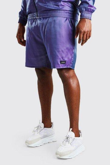 Purple Big And Tall MAN Iridescent Shell Shorts
