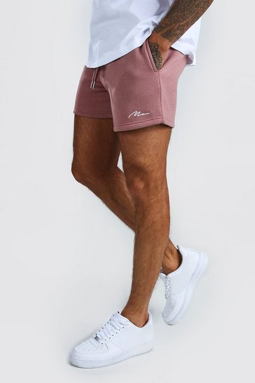Mauve MAN Signature Short Length Jersey Shorts