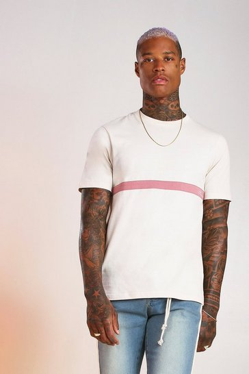 Ecru MAN Signature Colour Block T-Shirt