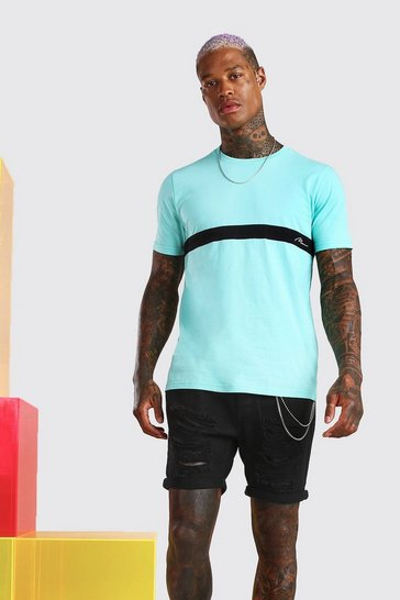 Mint MAN Signature Colour Block T-Shirt