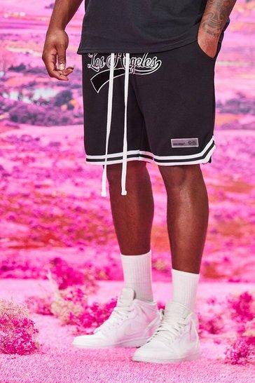 Black Big And Tall Los Angeles Jersey Shorts