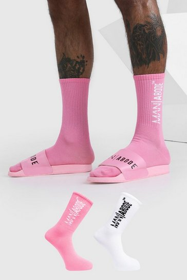 Pink Abode 2 Pack Socks