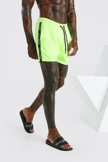 Yellow Abode Swim Short With Side Tape
