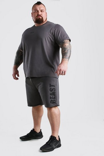 Charcoal MAN Dash BEAST T-Shirt Short Set