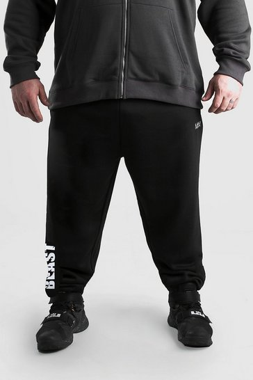 Black MAN x BEAST Jogger With BEAST Leg Print