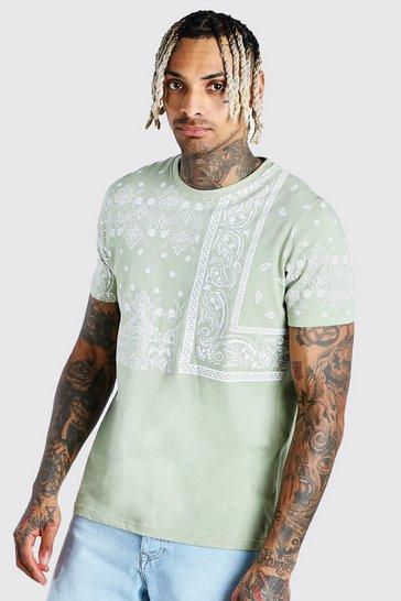 Mint Bandana Print T-Shirt