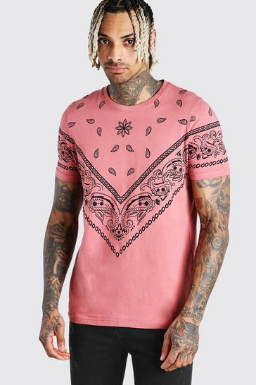 Mauve Bandana Print T-Shirt