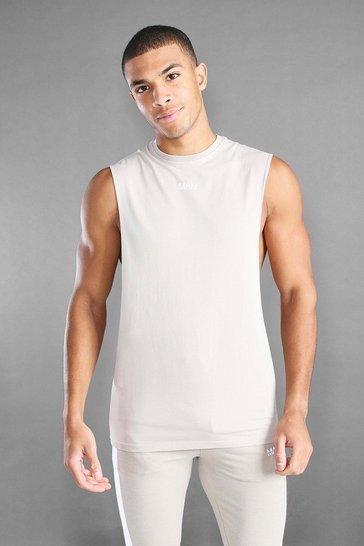 Stone MAN Active Loose Fit Drop Arm Hole Vest