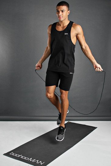 Black MAN Active Vest & Short Set