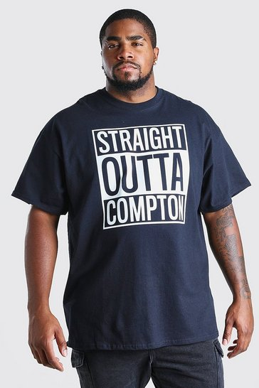 Black Big And Tall Compton License T-Shirt