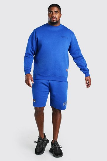 Blue Big And Tall Unrestricted MAN Short Tracksuit