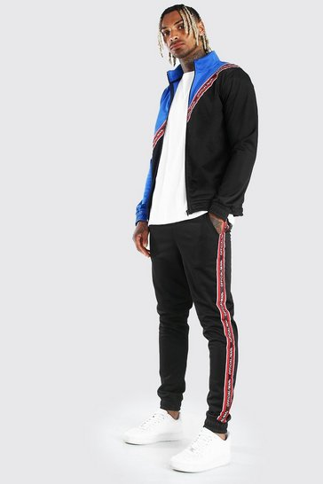 Cobalt MAN Official Tape Spliced Tricot Tracksuit
