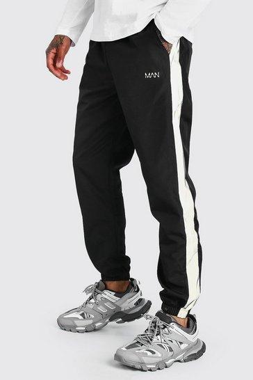 Black Original MAN Shell Jogger With Reflective Panels