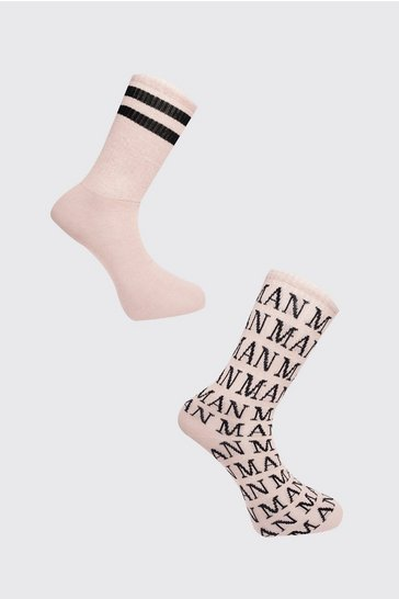 Taupe 2 Pack Roman MAN Sock