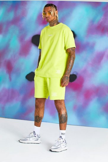 Green Quavo Pastel T-Shirt And Short Set