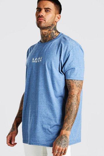 Oversized Original MAN Blue Marl T-Shirt
