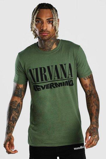 Green Nirvana Nevermind License T-Shirt