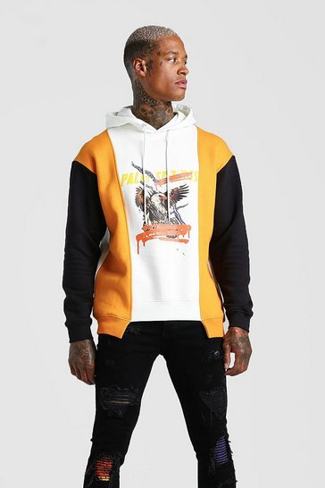 Stone Loose Palm Springs Eagle Graphic Hoodie With Panels