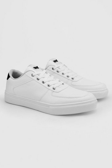 White Hiker Eyelet Cupsole Trainer