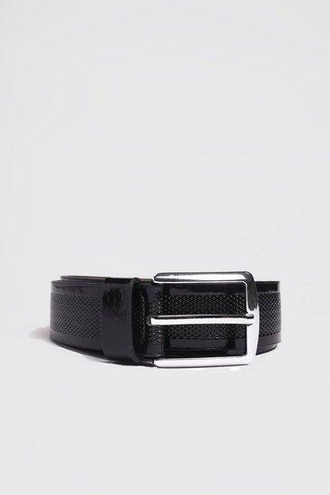 Black Patent Detail Belt